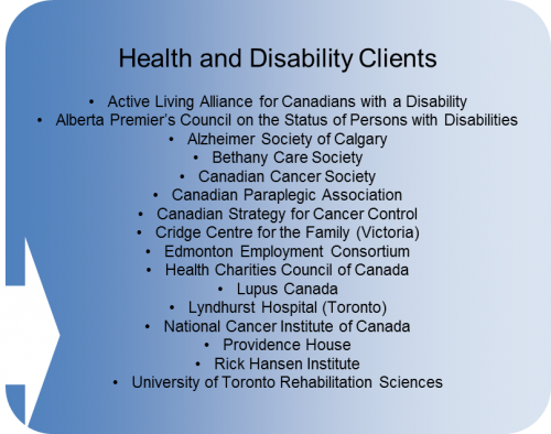 clients - health disability